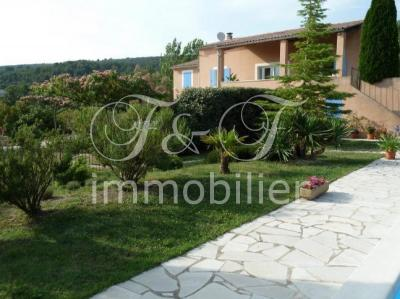 House with pool and apartment in Villars